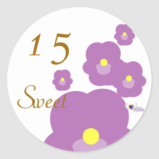 Sweet Fifteen February s Birth Flower-Cuctomize Round Stickers