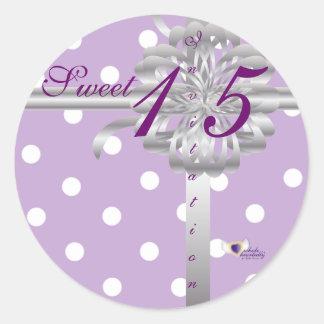 Sweet Fifteen Invitation! Sticker-Customize Classic Round Sticker