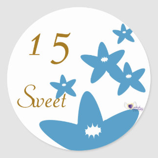 Sweet Fifteen July s Birth Flower-Cuctomize Round Stickers