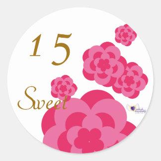 Sweet Fifteen June s Birth Flower-Cuctomize Round Sticker