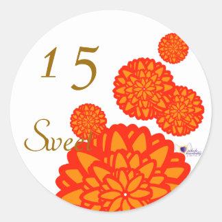 Sweet Fifteen November s Birth Flower-Cuctomize Round Sticker