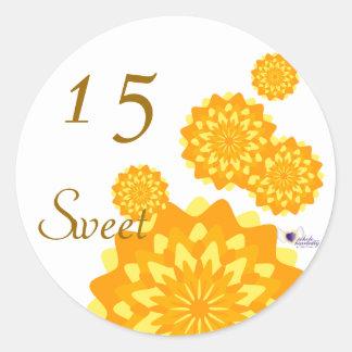 Sweet Fifteen October s Birth Flower-Cuctomize Round Sticker