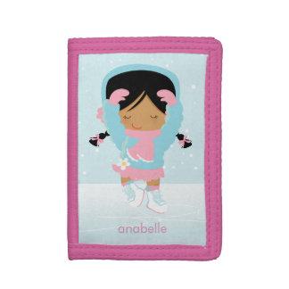 Sweet Figure Skating Girl Tri-fold Wallet