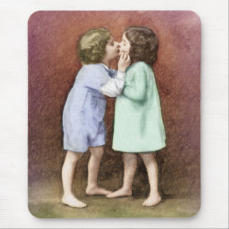 Sweet First Kiss Mouse Pad