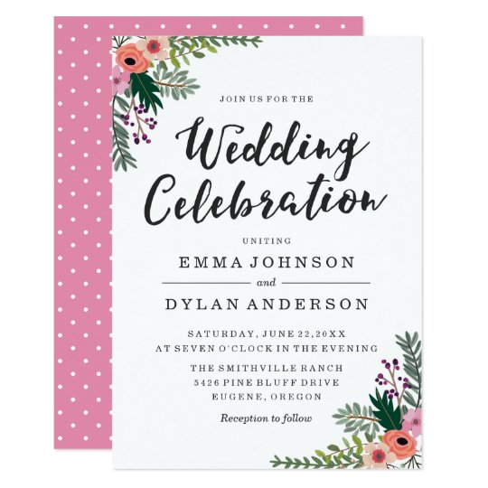 Sweet Floral | Wedding Invitation
