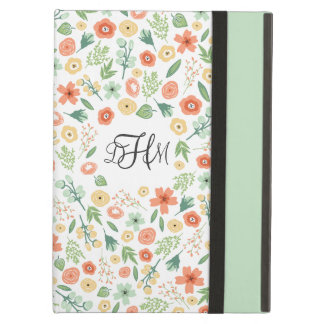 Sweet Florals Monogrammed iPad Air Case