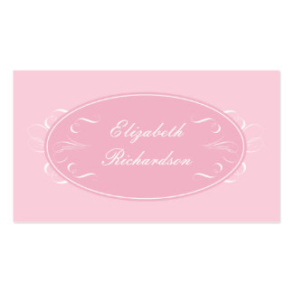 Sweet Flourishes Business Card in Pink
