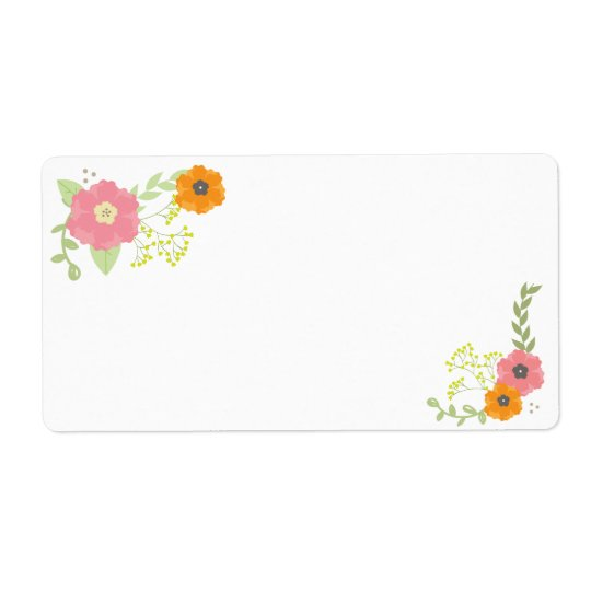 Sweet Flower Garden Blank Labels