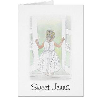 Sweet Flower Girl Cards
