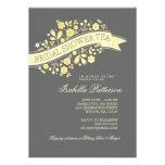 Sweet Flowers Bridal Shower Tea Party Invitation