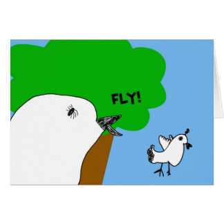 Sweet Fly Birdie! Note card