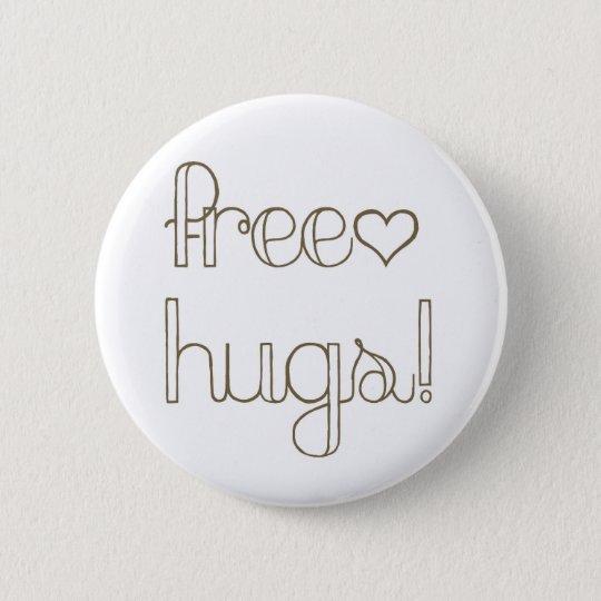 Sweet Free Hugs Heart Button