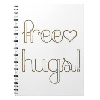 Sweet Free Hugs Heart Notebook