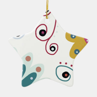 Sweet Freedom Ceramic Star Decoration