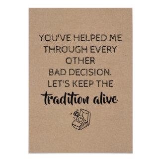 Sweet Funny Bridesmaid / Maid of Honor Proposal Card