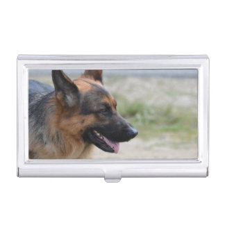 Sweet German Shepherd Dog Business Card Holder