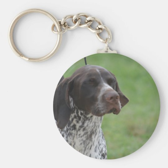 Sweet German Shorthaired Pointer Basic Round Button Key Ring