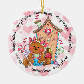 Sweet Ginger Spice Gingerbread Bird House Ornament