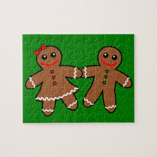 Sweet Gingerbread Couple Puzzles