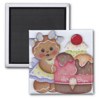 Sweet Gingerbread & Ice Cream Magnet
