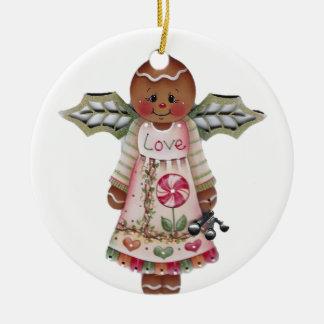 Sweet Gingerbread Love Angel Ornament