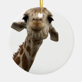 Sweet Giraffe Round Ceramic Decoration
