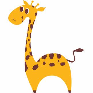 Sweet Giraffe Standing Photo Sculpture