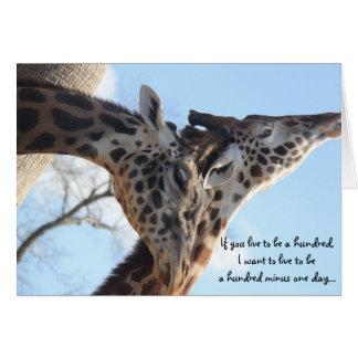 Sweet Giraffes Anniversary Card
