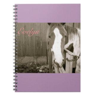 Sweet Girl Horse Notbook Notebook