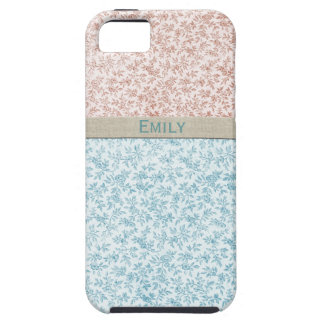 Sweet Girl Pink Blue Vintage Calico Personalized iPhone 5 Cover