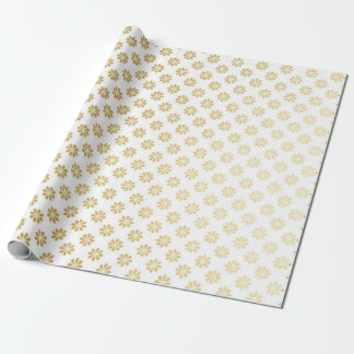 Sweet Glam Golden Margaritte Flower Princess Wrapping Paper