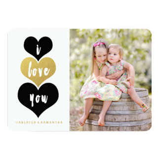 Sweet Gold Heart | Valentine's Day Photo Card