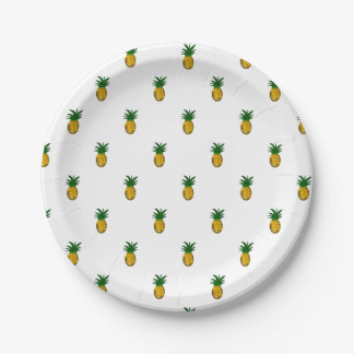 Sweet Golden Pineapple Paper Plate
