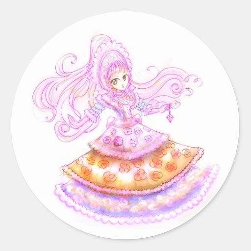 Sweet Gothic Lolita Japanese Style Harajuku Manga Round Stickers