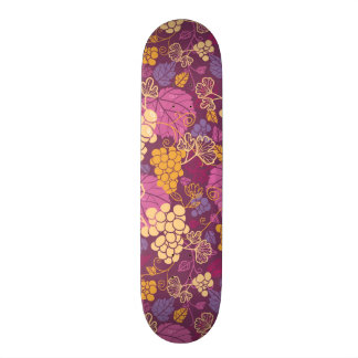 Sweet grape vines pattern background 20.6 cm skateboard deck
