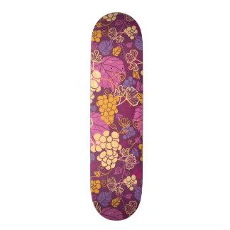 Sweet grape vines pattern background 20.6 cm skateboard deck