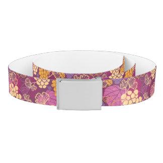 Sweet grape vines pattern background belt