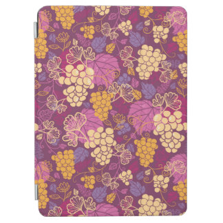 Sweet grape vines pattern background iPad air cover