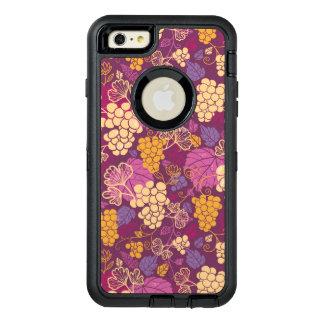 Sweet grape vines pattern background OtterBox defender iPhone case