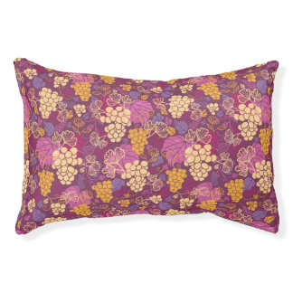 Sweet grape vines pattern background pet bed