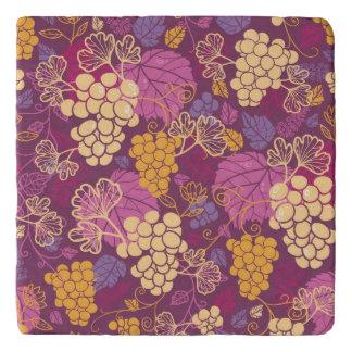 Sweet grape vines pattern background trivet