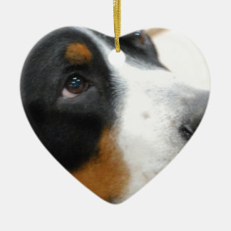 Sweet Greater Swiss Mountain Dog Christmas Ornament