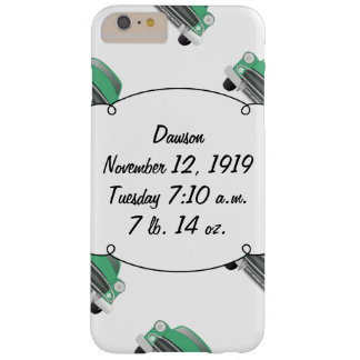 Sweet Green Retro Car Baby Boy Gifts Barely There iPhone 6 Plus Case