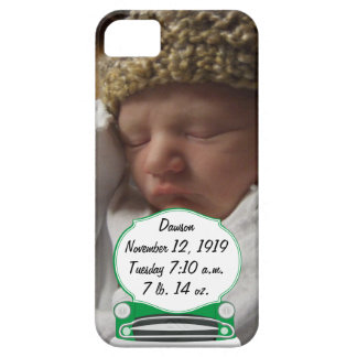 Sweet Green Retro Car Baby Shower Gifts Barely There iPhone 5 Case