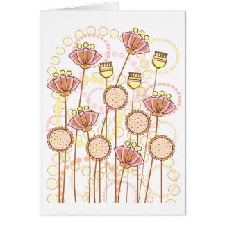 Sweet Groovy Blooms - Blank Card