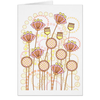 Sweet Groovy Blooms - Blank Greeting Cards