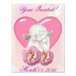 Sweet Heart 'Baby Angel' Design Personalised Invite