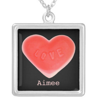 Sweet Heart Black 'Name' necklace square