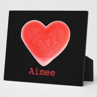 Sweet Heart Black 'Name' photo plaque