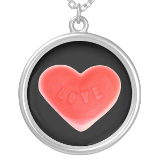 Sweet Heart Black necklace round